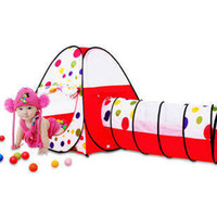 Cheap Large model children's toys Indoor Tent Portable Toy Play tents play house Kids tent Tent + Collapsible Play Crawl Tunnel tube