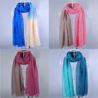 Wholesale New design women s printe Ombre shade plain fashion shawls long cotton voile hijab head muslim scarves scarf