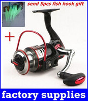 Wholesale CNC Full Metal Rocker MH7000 Spinning fishing reel BB Left Right Interchangeable Collapsible Handle carretilha pesca gift Fish hook