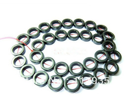 Wholesale Natural 3A Hematite donut Round Beads 8-12mm stone Loose beads jewelry making bracelet and neclace factory price