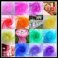 organza fabric - 75CM Width Fashion Organza Fabric Voile Sheer Yarn For Romantic Wedding Decoration Party Favors Supplies