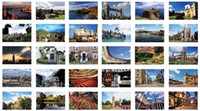 Valentine's Day Scenic Daisyland Free Shipping Daisyland England landscape boxed postcard high quality 30pcs set gift Greeting Cards birthday card
