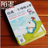 Valentine's Day Cartoon MO Iron Box Card Vintage Japanese comics Dora A Dream postcards 30 pcs set greeting card Birthday Card gift card Free Shipping
