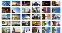 Valentine's Day Daisyland s1507 Free Shipping Daisyland Eiffel Tower landscape boxed postcard high quality 30pcs set gift Greeting Cards birthday card