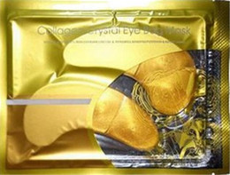 Wholesale 2014 New Anti Wrinkle NEW Crystal Collagen Gold Powder Eye Mask Golden Mask stick to dark circles Free DHL Shipping