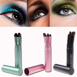 Wholesale MN Set Professional Pony Hair Eye Makeup Tool Eyeshadow Brushes Set Cosmetic Kit with Round Tube MAKE UP FOR YOU
