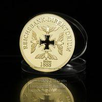 iron with gold clad art karat - new crafts and gifts Karat Gold Clad German Bullion Art coin gold metal bullion coins