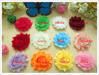 Wholesale 120pcs shabby chic flowers shabby flowers chiffon flowers for hair accessories for hair baby chiffon lace flower