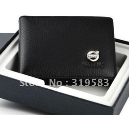 Wholesale MN Volvo Auto Car Black cowhide driving license Credit Card Holder Bag Quality Gift C30 C70 S40 S60 S80 V40 V50 V60 XC60 XC70 XC90