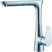 Guangdong China (Mainland) Yes SHAMANDA Free shipping hot sell New style cast Kitchen Faucet Solid Brass Thicken Chrome kitchen mixer 1407 [Five-year quality guarantee]