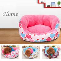 Wholesale Cute Pet Dog Beds Pink Blue Cindy Color Cartoon Cheap Pet Beds European Popular Dog Houses Canvas S M L