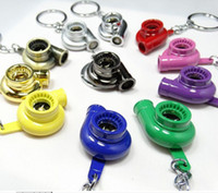 auto shipping international - In Stock New Fashion Auto Spinning TURBO Turbocharger Keychain Car Key Chain Turbine Key Ring Cheap