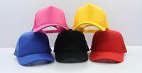 Wholesale Premium Original Cotton Hat Two Tone Trucker Mesh Caps Plain Baseball Hat