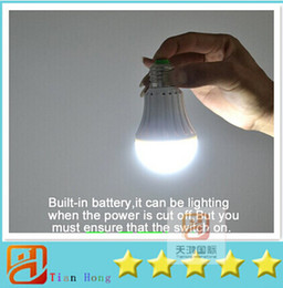 Rechargeable led emergency light 5W 7W E27 LED Bulb lamp lighting for home 2835 smd battery bombillas Free shipping 2pcs