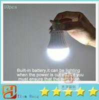 battery led spotlights - 10pcs Rechargeable led emergency light W W E27 LED Bulb lamp lighting for home smd battery bombillas CE RoHS