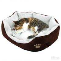 Wholesale Pet Dog Nest Puppy Cat dog Soft Bed Fleece Warm House Kennel Plush Mat Blue H8588 BL RO