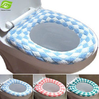 new Cotton Linter Eco-Friendly,Stocked Hot Selling Winter Flocking Toilet Seat Cover Multi Color O Closestool Mat Padded Toilet Seat Warm And Soft