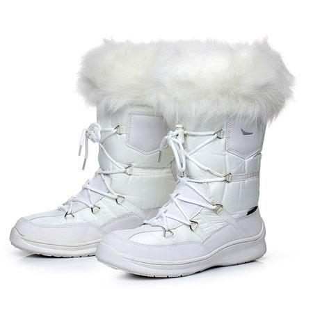 Fashion Snow Boots Women White Color Flat Heel Waterproof Antiskid ...