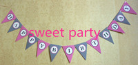 Event & Party Supplies flags and banners - colorful pink and black happy birthday banner bag flags per bunting length m party favors happy birthday