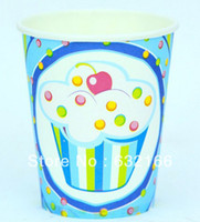 ice cream paper cup - blue and pink ice cream theme paper cup ml bag party decoration good quality cheap price party decortion