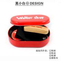 Wholesale Walker shop shoes nursing shoe polish shoe brush tin set