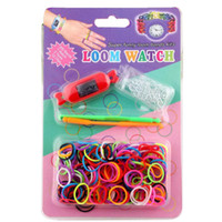 Newest DIY Knitting Braided loom Watch Rainbow Kit Rubber Lo...