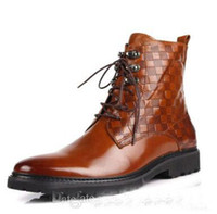 Half Boots Cowskin Flat Heel best selling 2014 new high for boots leather boots British male suits men dress shoes