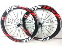 Wholesale alloy brake surface FFWD F6R c mm rim glossy white red k carbon wheels racing clincher wheelset road bike bicycle and zipp bora wheels
