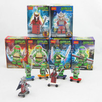 Wholesale Person Aberdeen Aberdeen Mirage TMNT People Assembled Toys for Children With Skateboards Fingertips Dance no original box