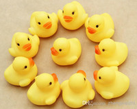 Plastic New Year Fool's day Halloween Easter Chi 8-11 Years 5-7 Years 13-24 Months 0-12 M Wholesale - New Arrival!Baby Kids Bath Water Toy Rubber Yellow Ducks Children Swiming Gifts