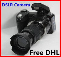 Wholesale Free DHL Hot sale popular fashion D3000 MP HD DSLR Camera w x Telephoto amp Wide Angle Lens cheap Camera