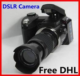 Wholesale Free DHL Hot sale popular fashion D3000 MP HD DSLR Camera w x Telephoto amp Wide Angle Lens cheap Camera