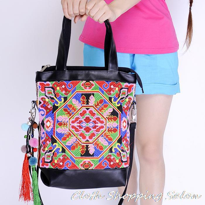 Embroidered Leather Bag Embroidered Bags Leather
