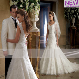 Wholesale New Lace A Line Wedding Dresses With Capped Sleeve Elegant Fashion Custom Made Sweetheart Long Floor Length Princess Bridal Gowns W1116
