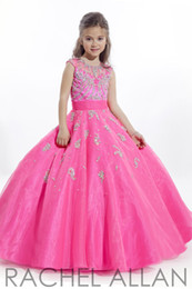 Wholesale kids dress and flower girls dresses Perfect Angel ball gown with mini cap sleeves Organza bottom with AB stones girls pageant Gowns