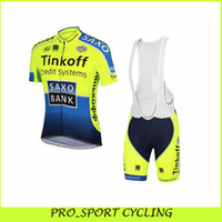 Wholesale Saxo Bank Cycling Jerseys Set Short Sleeve Road Bike Wear With Bib High Quality Bicycle Clothing Summer Outdoor Road Racing Riding Skinsuit