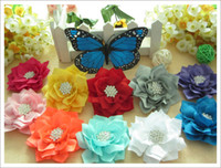 Hairband baby pointing - 50pcs inch Baby Girl Infant Toddler Chiffon point hair flower without hair bows hair clips hair accessories headwear