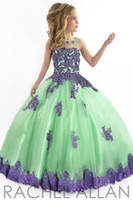 angels champagne - kids dress and flower girls dresses Perfect Angel ball gown with soft tulle bottom and lace appliques girls pageant Gowns