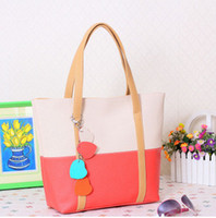Wholesale 2014 new candy colors hit the color stitching retro fashion handbags Shoulder Messenger laptop messenger bag influx of women
