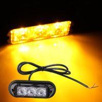Wholesale 3W High Power LED Waterproof Car Truck Emergency Strobe Flash Light Amber
