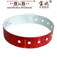 Wholesale 10pcs type identification bracelet type L Bar Party wrist with a one time identification bracelet security identification zone