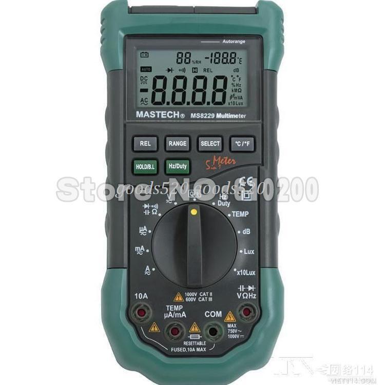 Lcr Meter High Voltage : Mastech ms  digital multimeter lcr meter ac