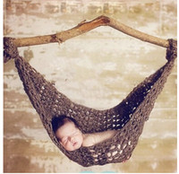 baby hammock - Handmade Knit Children Costumes Baby Crochet Hammock Cocoon Photography Photo Props