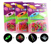 Unisex 12-14 Years Multicolor DIY Knitting Braided loom Watch Rainbow Kit Rubber Loom Bands Self-made Silicone Bracelet Free Shipping(Watch+Rubber+Clip+Hook)