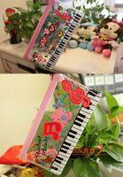 Plastic wholesale pvc cosmetic bags - 48 NEW PVC Transparent Pink Music Piano symbol Pen Pencil Pouch Case BAG Cosmetics BAG Case Holder BAG Handbag