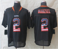 Rugby Men Short Wholesale - #2 Johnny Manziel American Jersey Football Jerseys SIZE40-60 free shipping