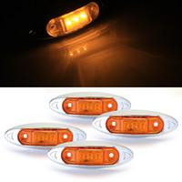 trailer lights - 4x Waterproof Yellow LED Side Marker Light Lamp for Trailer Truck Boat DC12V