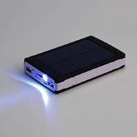 Wholesale 50000mAh Portable Super Solar Power Charger Dual USB External Battery Power Bank