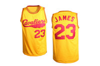 Wholesale Basketball Jersey Lebron James Cavaliers Yellow Basketball Wears All Teams Jerseys Basketball Apparel Authentic Athletic Apparel