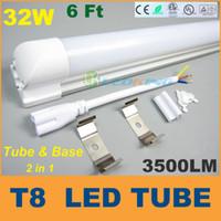 bulbs and lighting - 1800mm T8 LED Tube Light and base Integrated W m ft LED fluorescent SMD2835 LM led bulbs AC85 V CE FCC ETL SAA UL